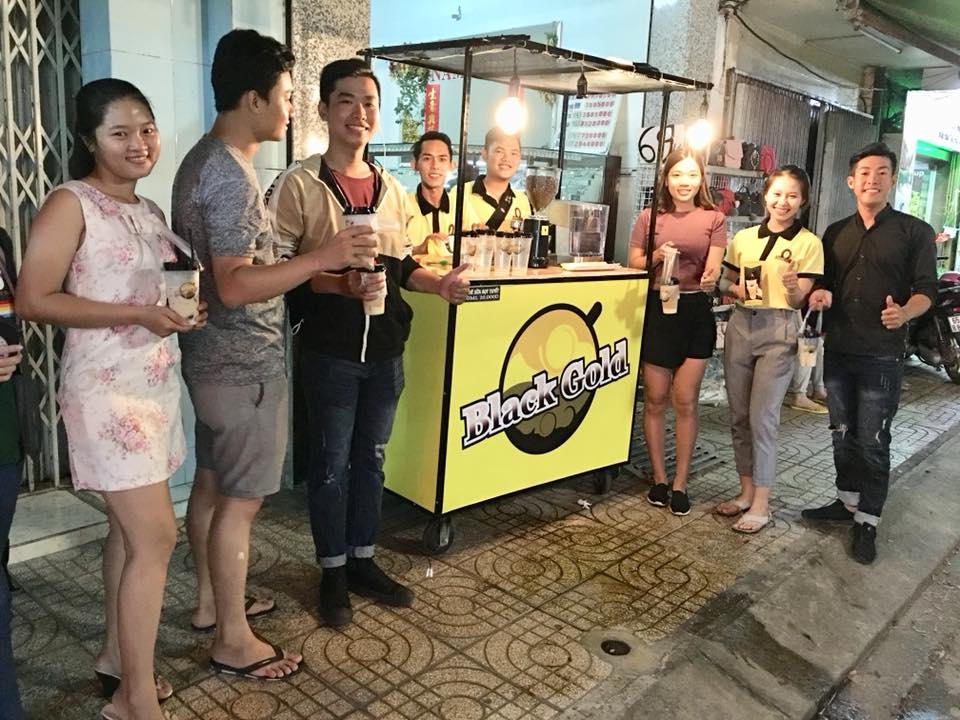 Cà phê pha máy Black Gold địa điểm đường Hai Bà Trưng Bến Ninh Kiều
