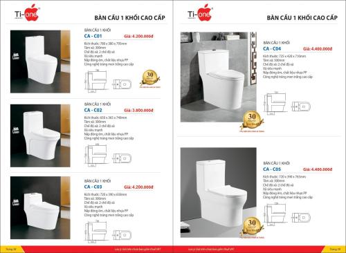 thiết bị vệ sinh cao cấp TIONE (SỐ 1)
