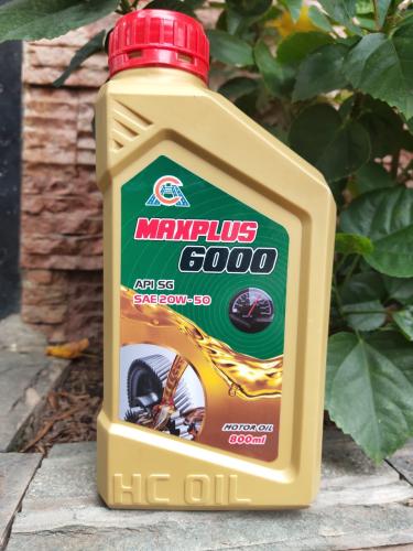 Nhớt Maxplus 6000 20W-50 cho xe máy 4 thì
