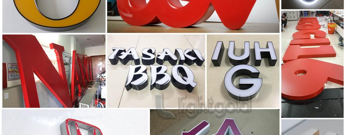 Chữ nổi nhôm hàn quốc là gì ? lý do chữ nổi nhôm hàn quốc sẽ là xu hướng mới của ngành bảng hiệu quảng cáo.