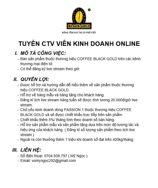 TUYỂN CTV KINH DOANH ONLINE