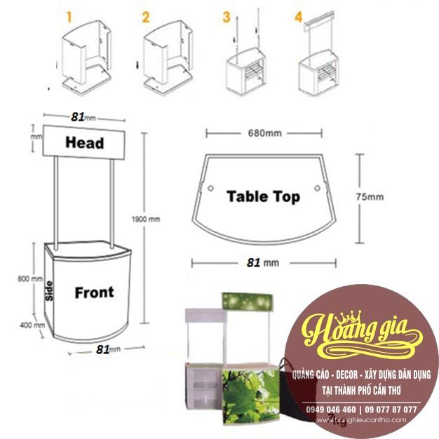 Booth bán hàng di động? booth sampling? | cung cấp sản xuất booth bán hàng di động tại Cần Thơ.